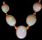 Necklace opal