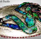 Opal cowboy buckle jewelry.