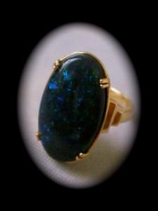 black opal rings, fire opal rings, opal ring,custom made gold green blue opal color ring