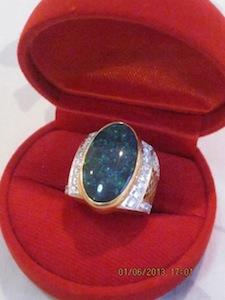 custom black opal rings