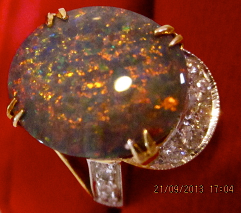opal rings,black opal rings