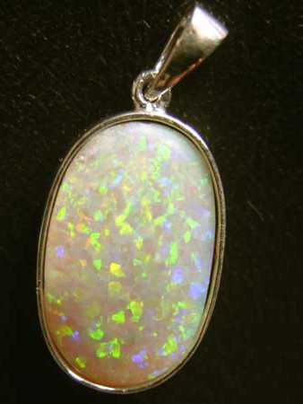 Symmetrical opal,opal jewelry,opal set in solid silver,necklace opal