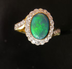 Ring opal diamonds