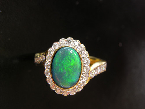 white ring on australian black images and opal jewelry rings best opals engagement pinterest diamonds