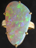 Jewelry ring opal,opal ring,custom design jeweller,opal goldsmith