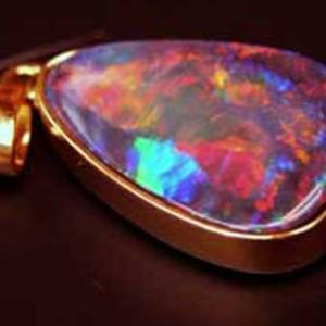 Jewelry fire opal,black fire opal pendant,opal jewelry