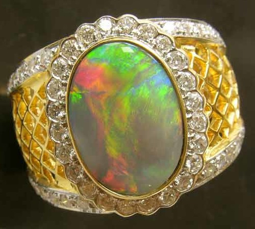 Opals from official government heritage site in australia opal ring designs opal ringring diamonds opalselling gold ring opal and aloadofball Images