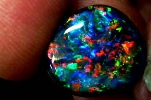 Jewelry with opal gemstones.