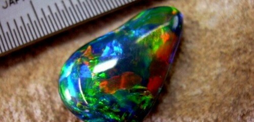 Word opal gemstone.