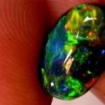 black opal, opal lightning ridge australian, black stone, opal blue green colors