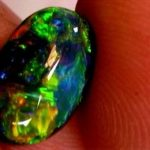 black opal, opal lightning ridge australian, black stone, opal blue green colors