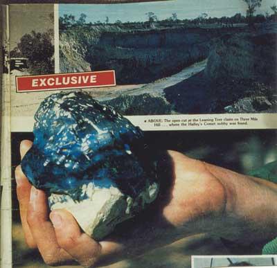 halleys comet opal,opals,famous opal,black opal,lightning ridge opal,australian opal