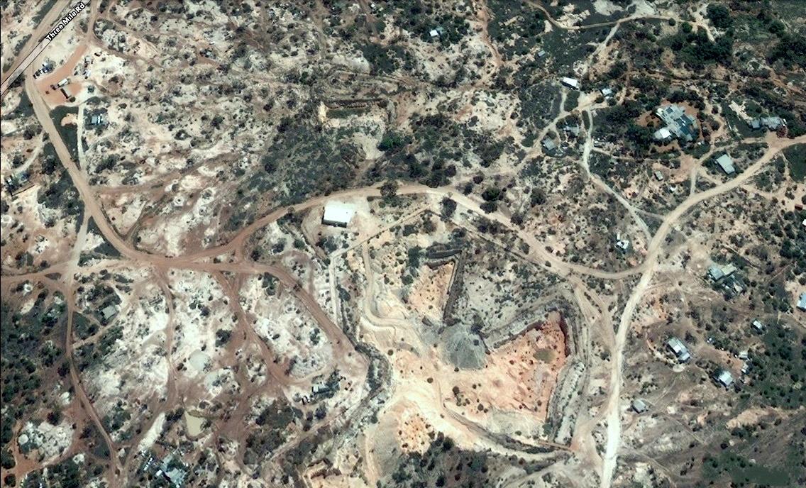 Australian opal mine,opal mine