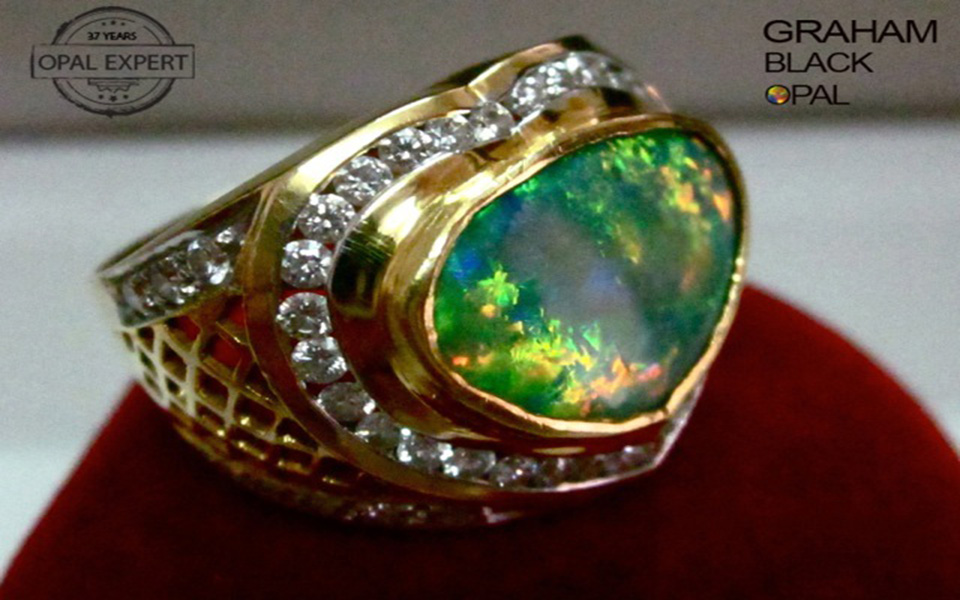Australian Opal Rings Handmade Australian Black Opal Rings Custom Made ,opal  Ring,opal Jewelry