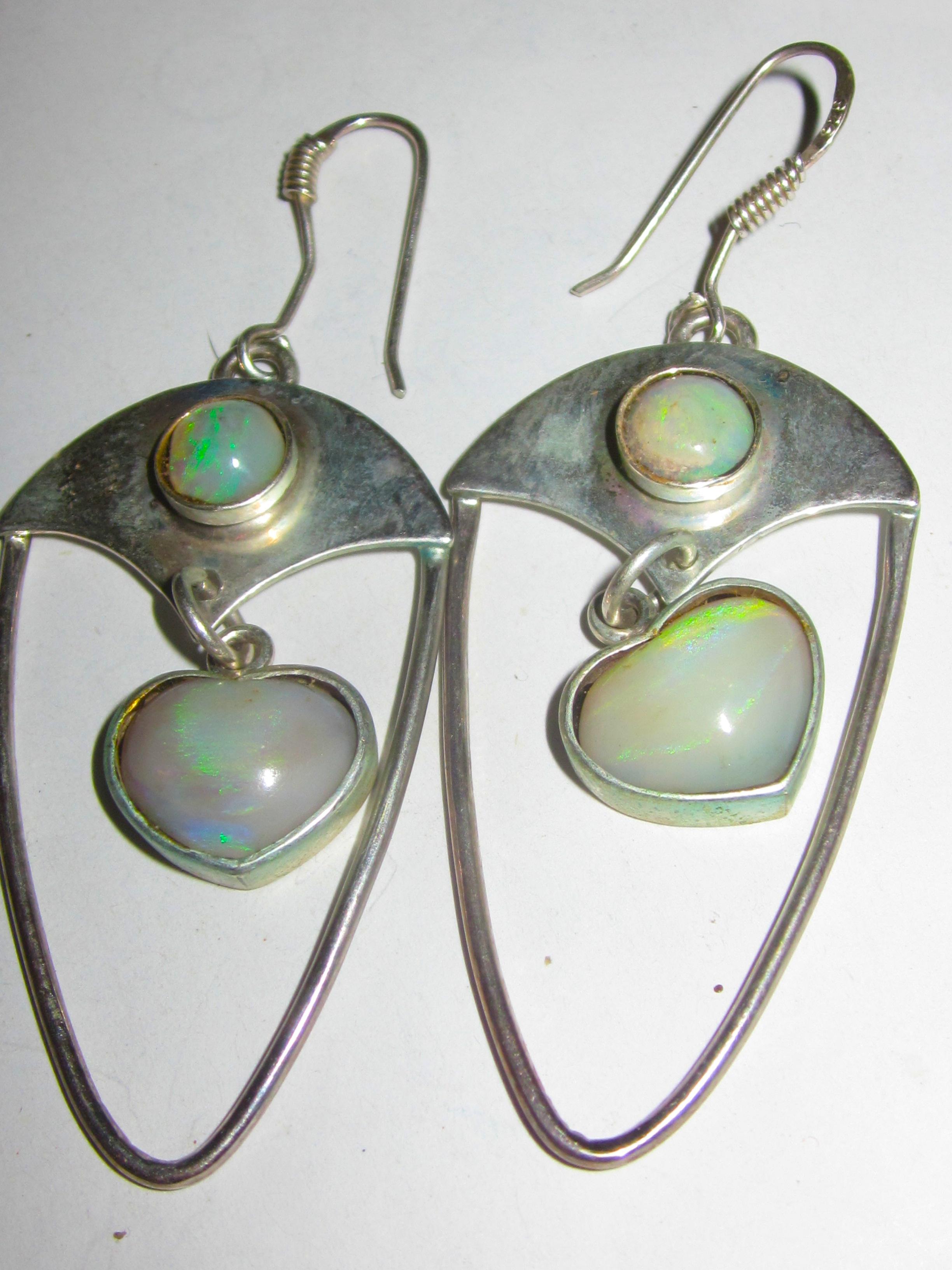 opal earrings australian opal earringshandmade earrings
