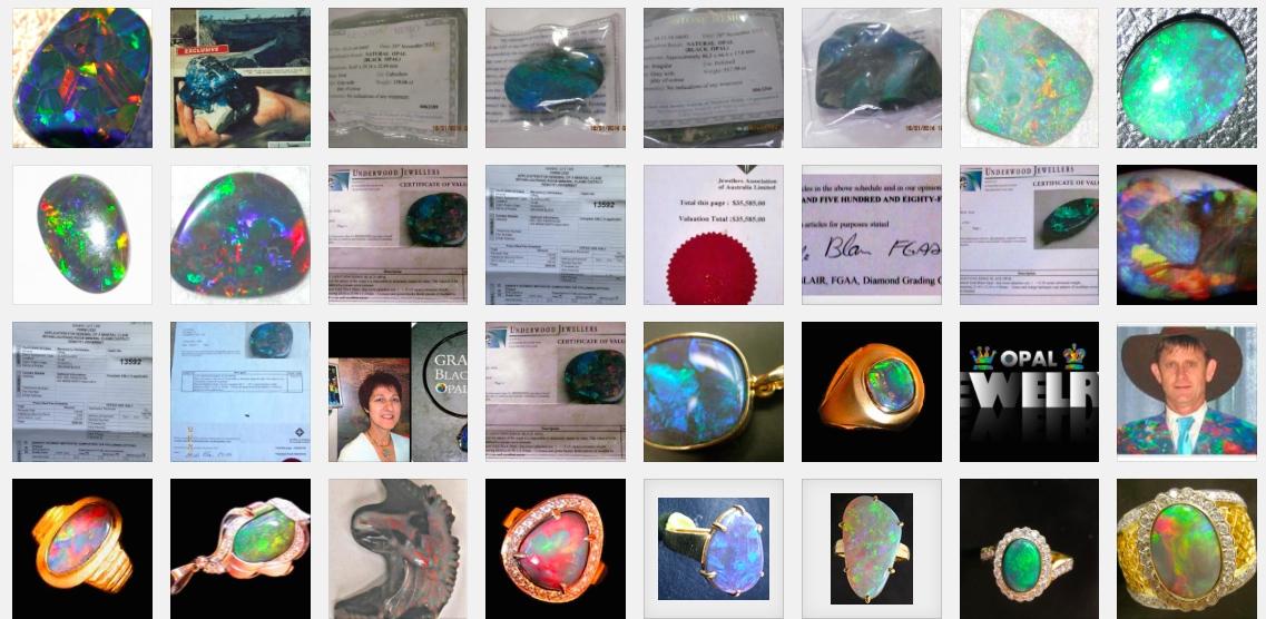 custom american opal rings,australian opal ring,australian black opal rings