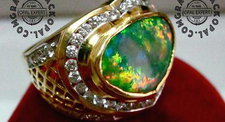 Custom mens opal rings.