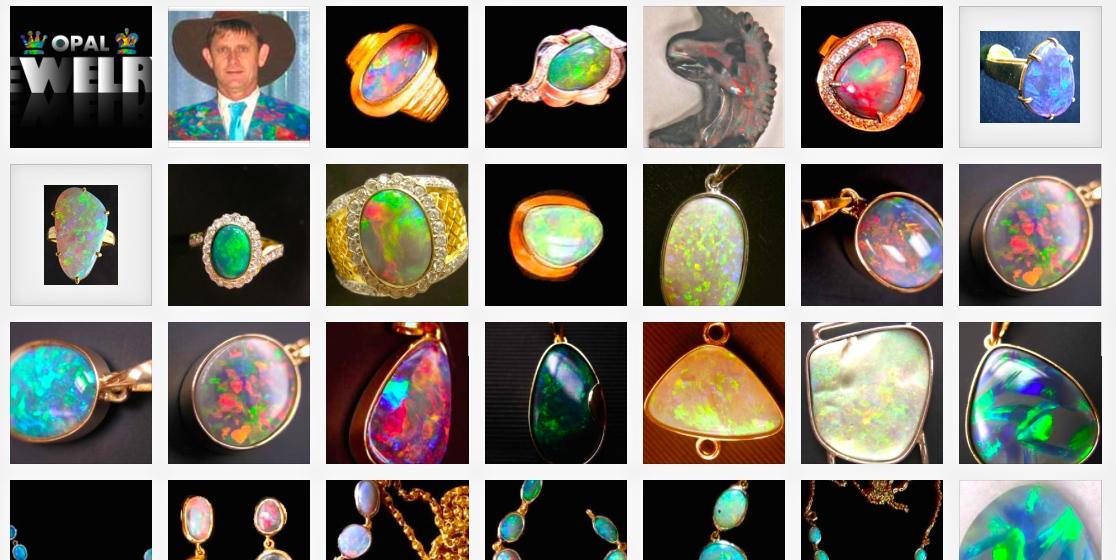 rings Australian opals