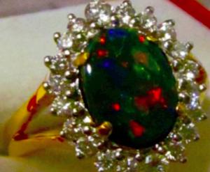 black opal rings,opal ring sale,opal jewelry sale,australian opals,diamonds opal gold ring