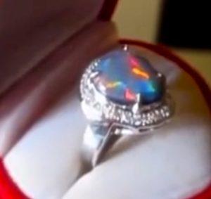 custom made opal wedding rings,custom made black opal wedding rings,custom made opal diamond wedding rings