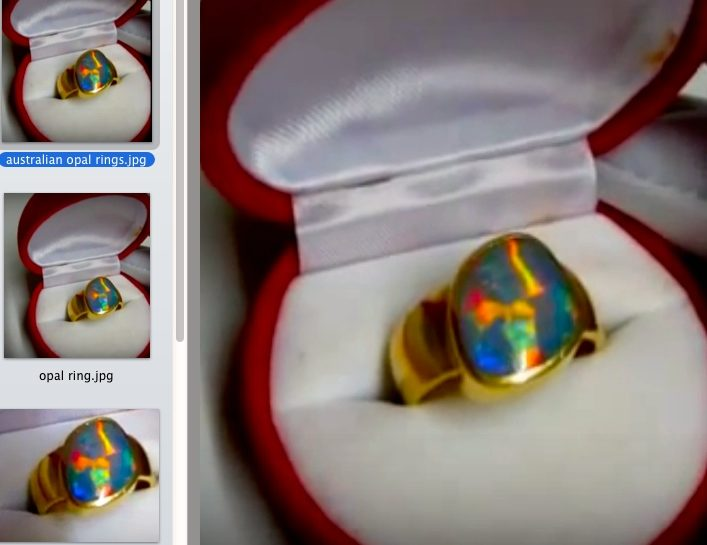 Opal Rings Sale With Insurance Replacement Certificate From Australian Jewelry Association Limited.