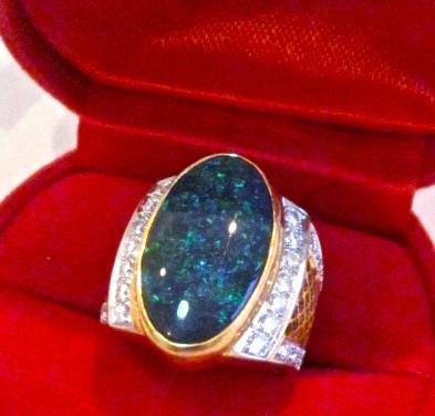 rings black opal,opal rings,black opal rings