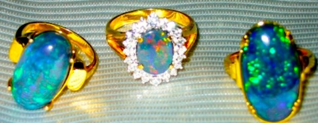 Rings Black Opal jewelry.