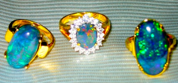 opal rings & black opal rings