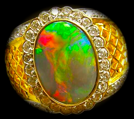 woman's opal rings,unique opal jewelry,unique opal diamond rings,unique opal rings,unique black opal rings