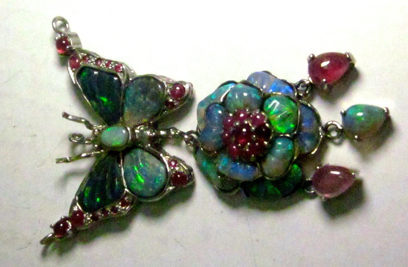 opal necklace in silver,custom opal necklace