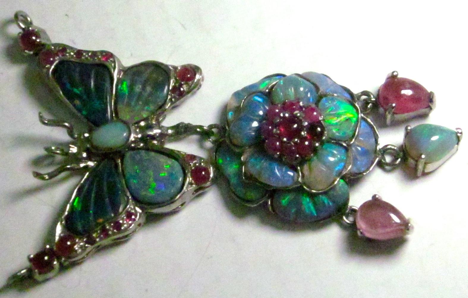 custom opal necklaces,opal necklace