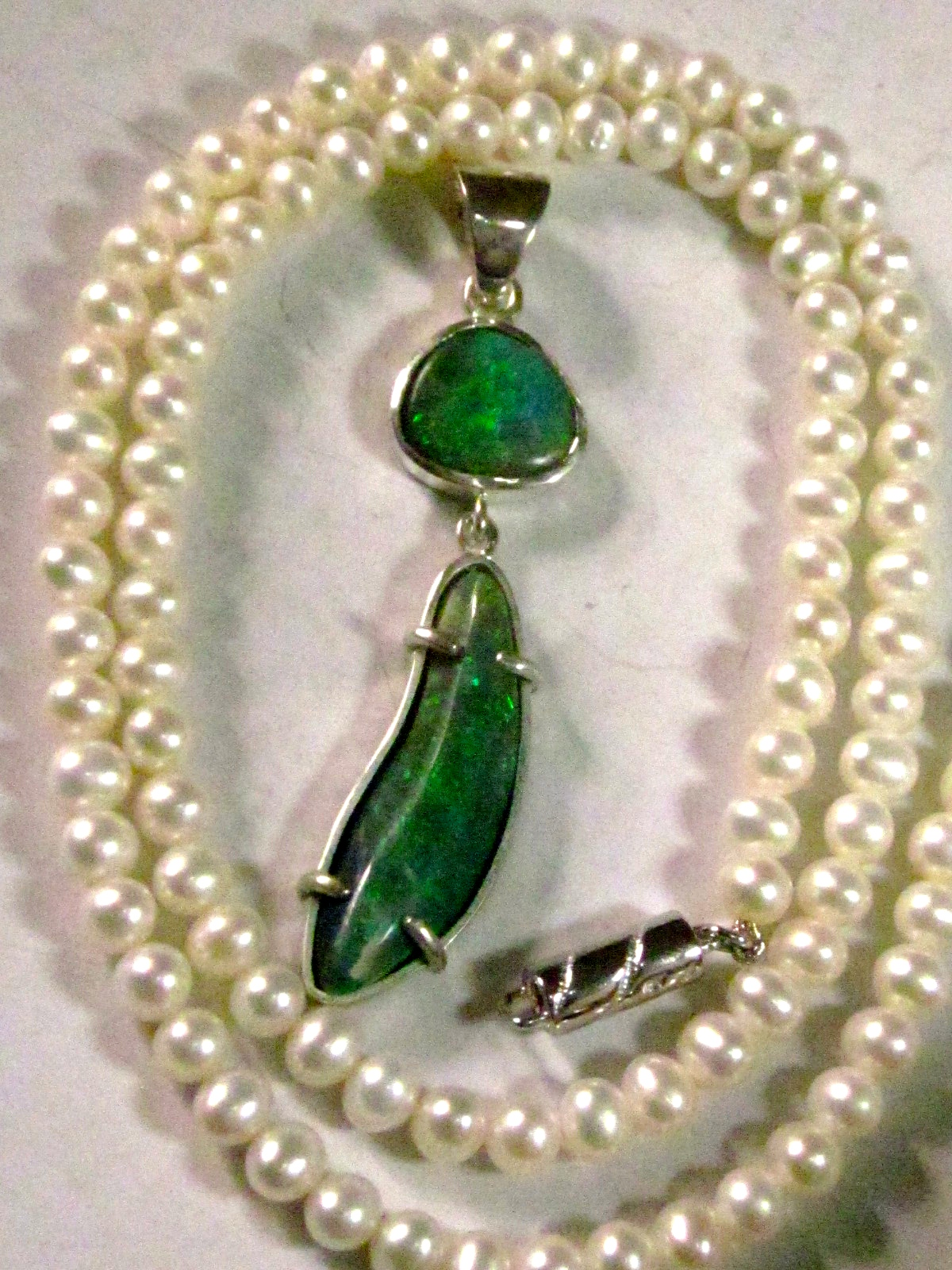 handmade opal jewelry,silver opal necklace,handmade pendant with opals