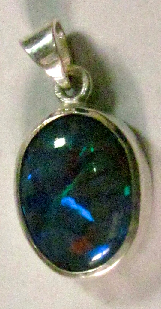 handmade pendant with opal