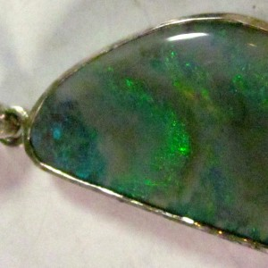 black opal silver necklace,silver opal necklace
