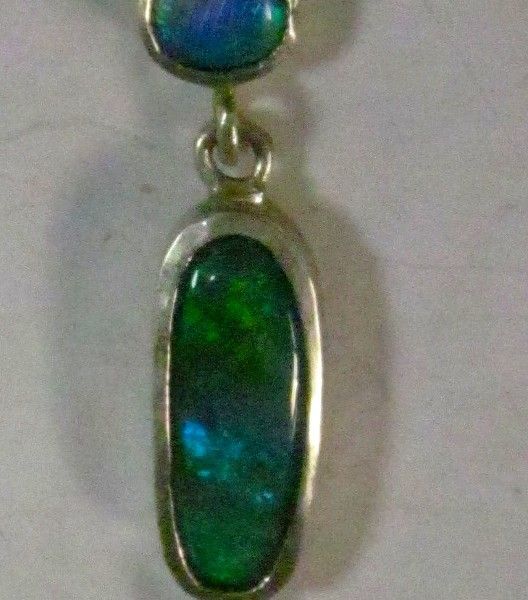 Custom opal necklace.