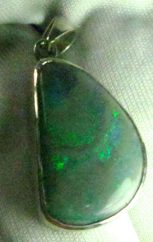 handmade opal pendant,black opal silver necklace, opal silver necklace,green opal necklace