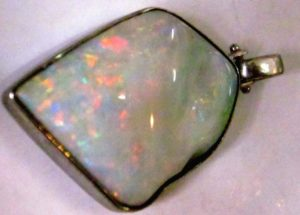 silver opal necklace,silver opal pendant, Australian opal pendant,silver opal necklace handmade