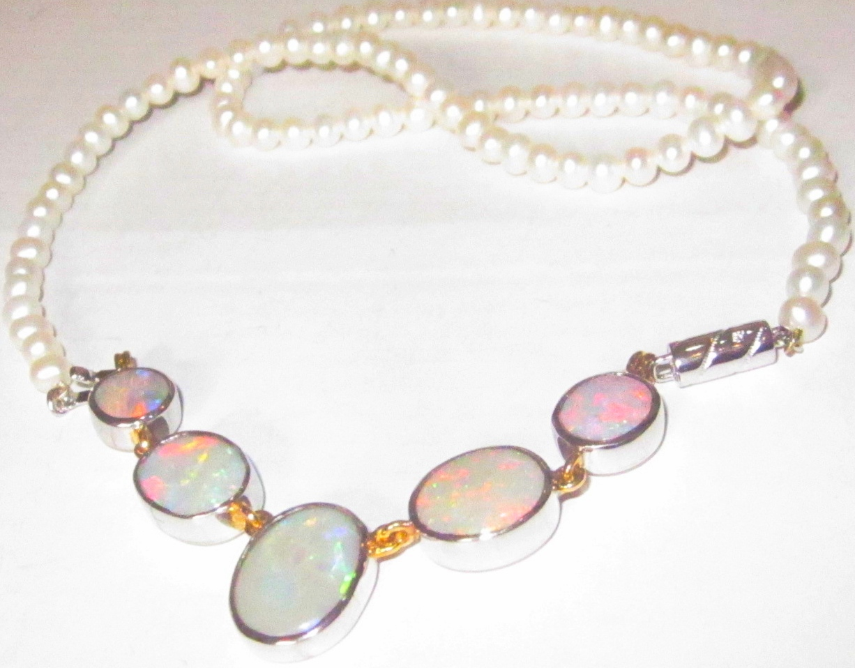 opal gemstone necklace,opal necklace