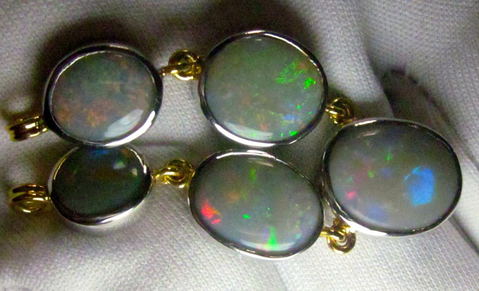 opal necklace, custom made opal jewelry