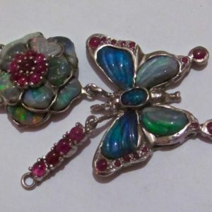 silver jewelry opal necklace,opal necklace