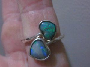 opal ring,black opal rings