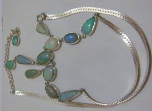 pendant with opal