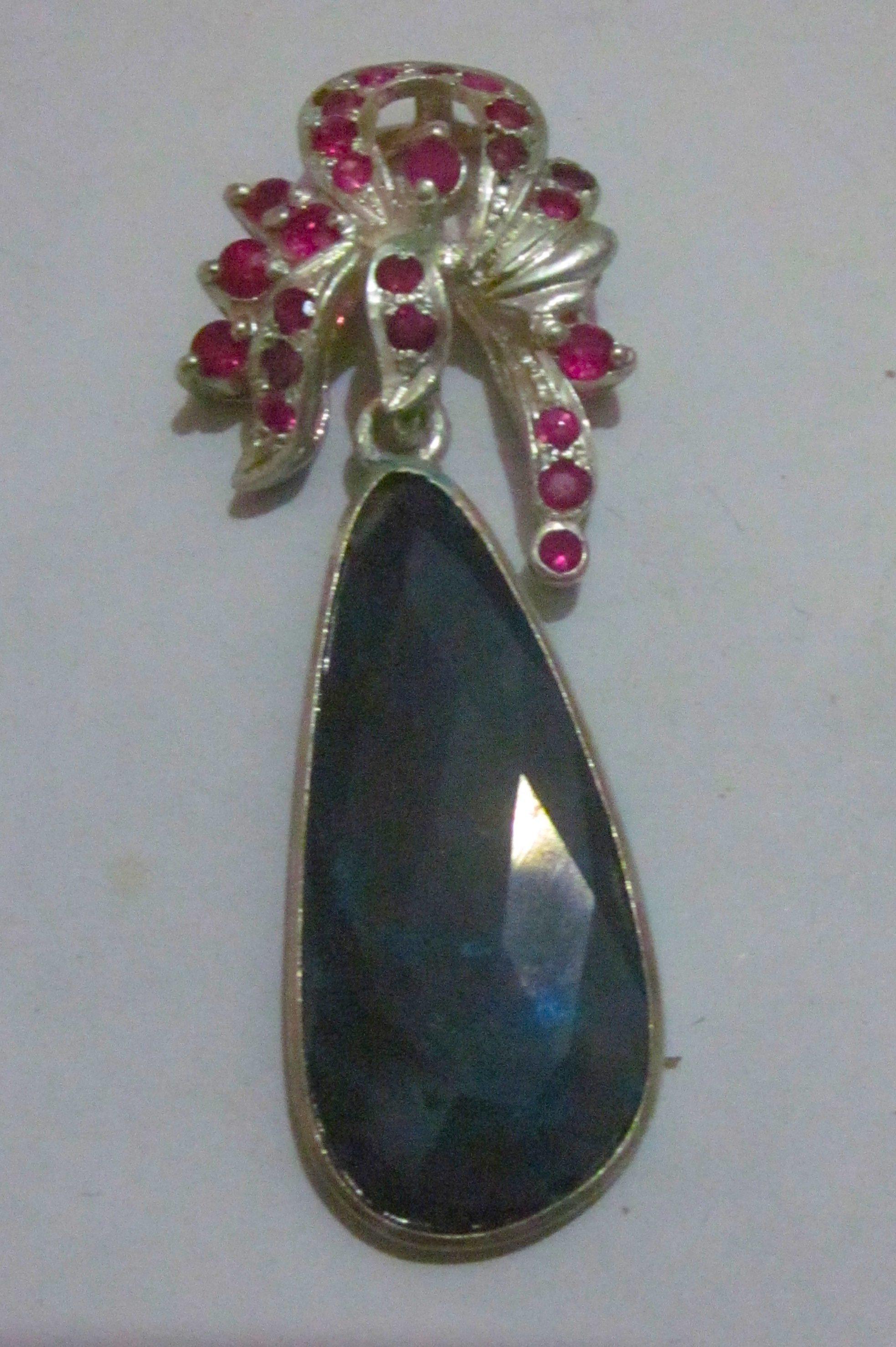 Opal jewelry pendant,black opal pendent