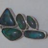 pendent black opals