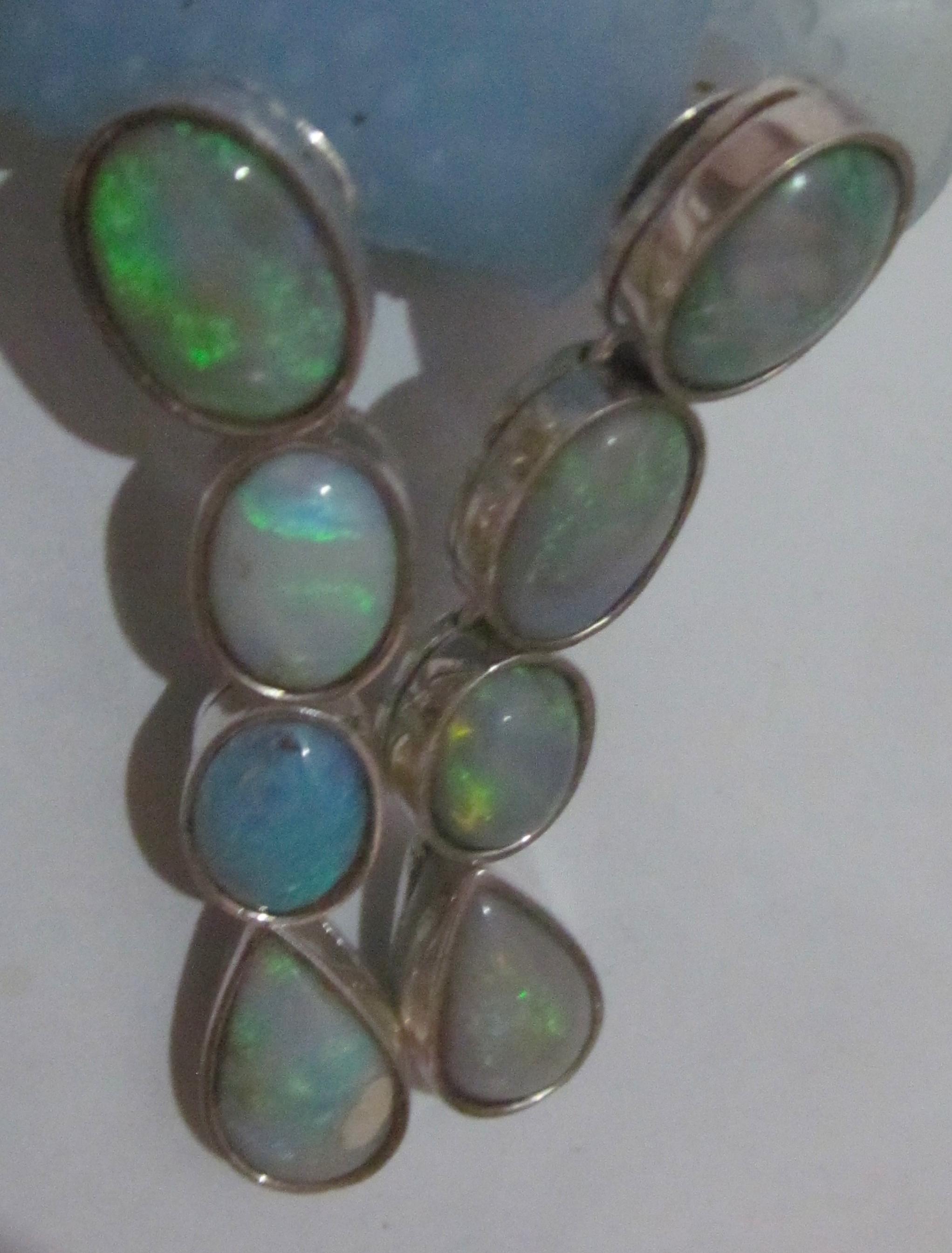 earrings opal black opal earringsopal earrings handmade