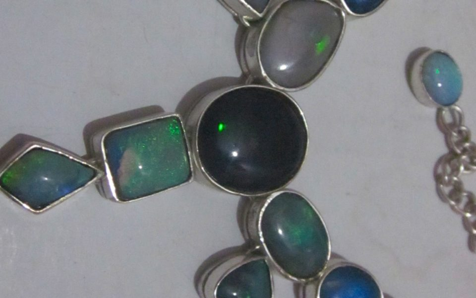 Necklace Australian black opal necklace prices wholesale direct $381.