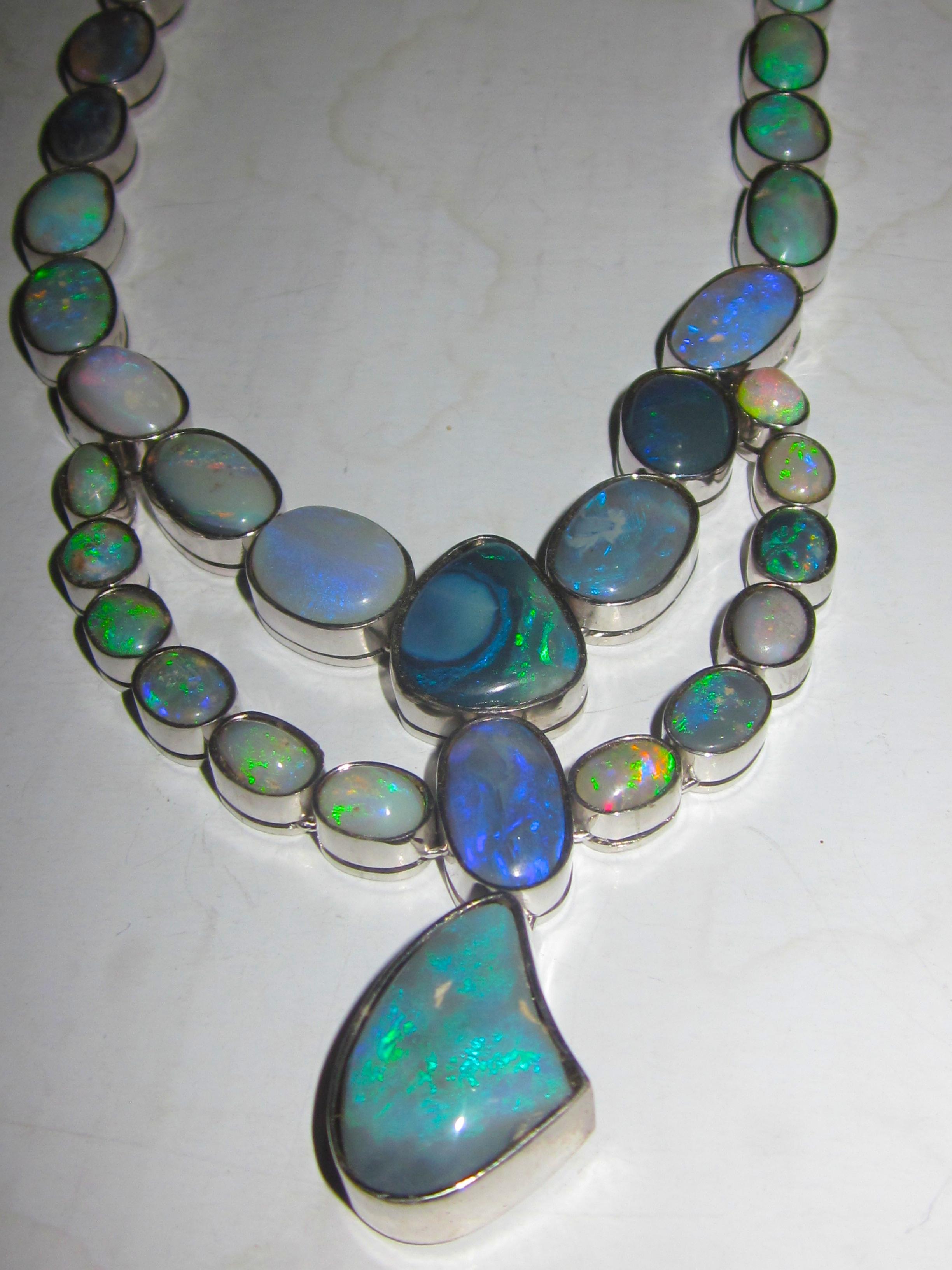Graham Australian Handmade Opal Necklace Online
