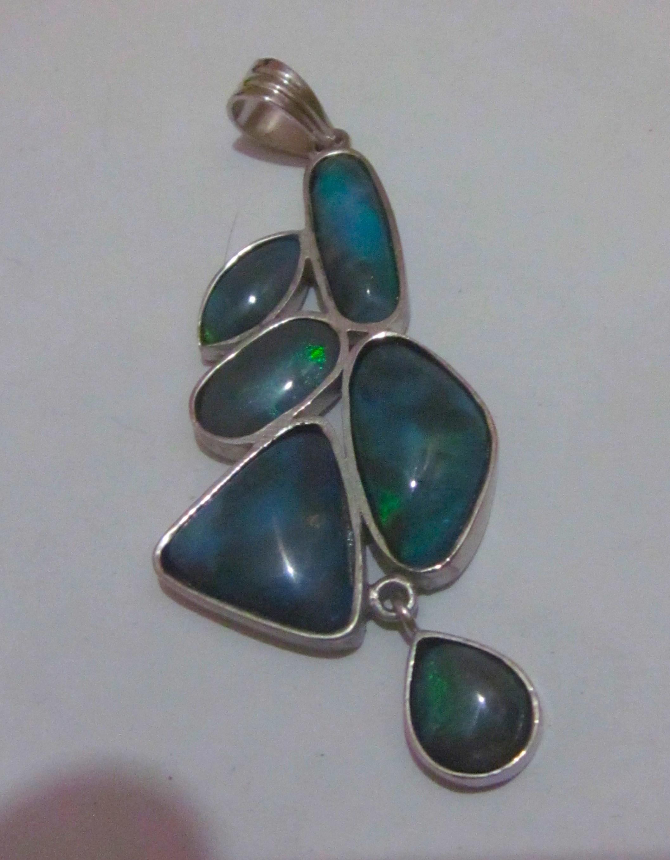 black opal jewellery, opal jewellery,opal pendant