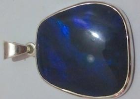 Black opals.