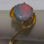 gold ring opal